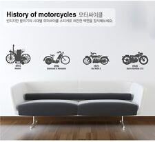 4 PCS MOTORCYCLES Removable Wall Art Decal Vinyl kids Sticker Mural Decor DIY