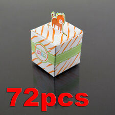 72 Tiger Born To Be Wild Jungle Baby Shower Favor Candy Box Party Stripe Orange