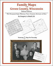Family Maps Green County Wisconsin Genealogy WI Plat