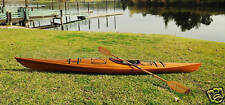 Cedar Wood Strip Built Kayak 15' Boat Woodenboat Usa Canoe New
