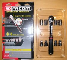 """FACOM S.4PG SL.161PB staubdichte Umschaltknarre Ratschen Set 1/2"""" + Nüsse 8-19mm"""