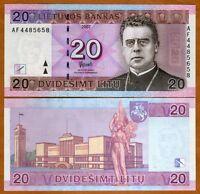 Lithuania, 20 Litas, 2007, Pick 69, UNC