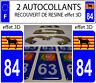 2 adesivi per targa auto EFFETTO DOMING 3D RESINA Ane Catalano Burro DEP 84