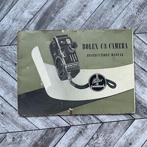 Vintage Bolex Paillard C8 Camera Instructions Manual Photography Booklet Guide
