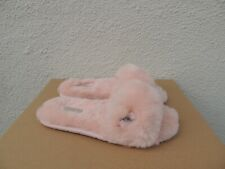 UGG BABY PINK SHEEPSKIN FLUFF SLIDE SLIPPERS, WOMEN US 11/ EUR 42 ~NIB