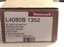 HONEYWELL HI-LIMIT AQUASTAT L4080B 1352