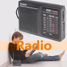 TECSUN R-202T Portable AM FM TV Sound World Band Radio Speaker Player Receiver