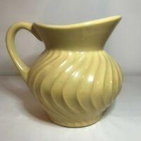 Rare Vintage Fioriware Art Pottery Zanesville, Oh Pitcher Stunning Yellow Twist