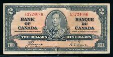 1937 BANK OF CANADA TWO DOLLARS/BANQUE DU CANADA DEUX DOLLARS #BC22c !!   NUB20