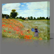 CLAUDE MONET Poppy Field In Giverny Large Canvas Art Picture Print Art Poppies
