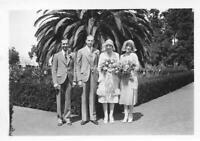 Found PHOTOGRAPH bw BLACK AND WHITE Original WOMEN MEN Portrait VINTAGE 05 26 Z