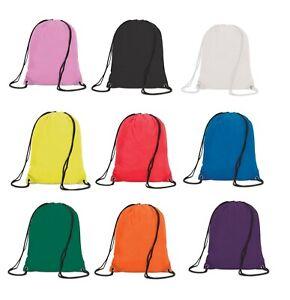 Premium Waterproof Drawstring Bag Sports Gym Sack Swim School PE Kit Shoe Bag