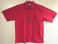 NWT NOIZ Mens Red Short Sleeve Button Down Shirt Size 2XL