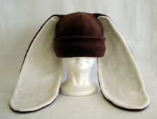 Long ear BUNNY rabbit HAT beanie BROWN & CREAM cosplay dress up Easter costume