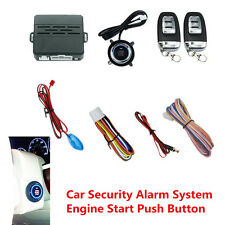 12V Car Engine Ignition Start Push Button Audible Alarm Remote Security System