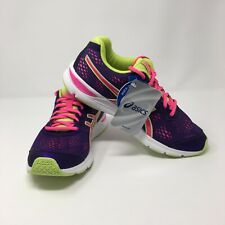 Asics Gel Storm 2 Kids Youth Size 7 Purple Hot Pink Neon Green NWB