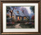 "Thomas Kinkade ""Foxglove Cottage"" New CUSTOM FRAMED Art Print Painter of Light"