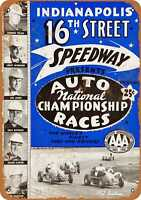 Metal Sign - 1952 Indianapolis 16th Street Speedway - Vintage Look Reproduction