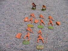 Elastolin 40mm Unpainted Viking War Party x5   Lot C