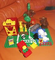 VINTAGE LEGO DUPLO ZOO 2666 & EXTRAS POLAR BEAR MONKEY'S GIRAFFES SEAL PANDA