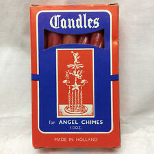 Box of 12 Candles for Angel Chimes Made in Holland Vintage