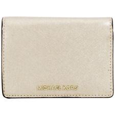 Michael Kors Jet Set Travel Leather Pale Gold Ladies Wallet 32F6MTVF6M
