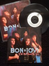"Bon Jovi - I'll Be There For You 7"" Ltd Edition Poster Bag Sleeve Vertigo JOVPB5"