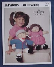 Patons All Dressed Up Joggers Doll Clothes Knitting Pattern Cabbage Patch Kids