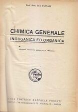 CHIMICA GENERALE INORGANICA ED ORGANICA Lea Pannain 1940  Raffaele Pironti