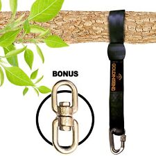 10 feet Tree Swing Straps Hanging Kit for Outdoor Swing with FREE SWIVEL HOOK...