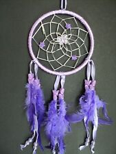 PURPLE SILVER BUTTERFLY DREAM CATCHER NEW GIRLS GIFT DREAMCATCHER BEADS