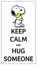 Fridge Magnet: KEEP CALM and HUG SOMEONE (Snoopy & Woodstock)