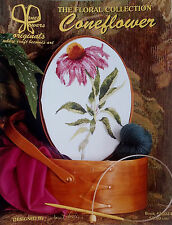 Vintage '98 Coneflower CROSS STITCH The Floral Collection by JANET POWERS