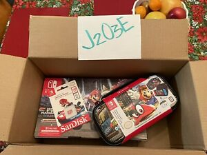 NEW Nintendo Switch Console Mario Kart 8 Deluxe Bundle Neon Red/Blue Joy-Con🚚💨