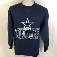 VTG 90s Dallas Cowboys Russell Athletic Embroidered Sweatshirt Blue Men's S/M