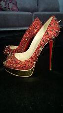 Louboutin VERY MIX platform peep toe heels - genuine - 39.5