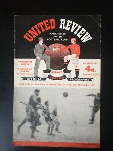 1956/7 MANCHESTER UNITED V ATLETICO DE BILBAO (EC Q/F)