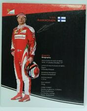 New listing 2016 Kimi Raikkonen Ferrari F1 Driver Card Formula 1 Autograph