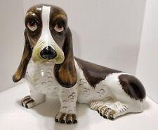 Italian Ceramic Basset Hound Dog Statue Handmade in Italy S.6362 ~ INTRADA?