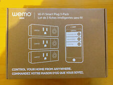 **NEW ** WeMo F7C063-BDL Wi-Fi Smart Plug Bundle (3-Pack)