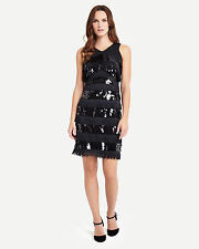 Phase Eight Becca May Sequin Dress Black Size UK 12 rrp £170 LF076 QQ 13