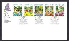 Canada  FDC  # 1315A     PUBLIC GARDENS   1991 Strip 5    New Fresh Unaddressed