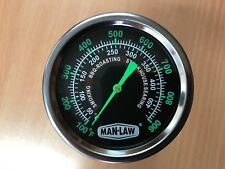 Man Law BBQ Grill Smoker Roaster Temperature, Thermometer Gauge MAN-T702BBQ