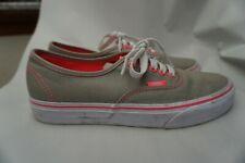 VAN'S Canvas Tan W/Hot Pink Soles Sneaker Shoes Woman's 8.0 Men's 6.5 721461