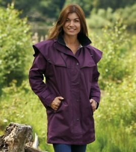 Country Estate Ladies Windsor Coat Jacket in Plum UK 10 - Riding Shooting Winter