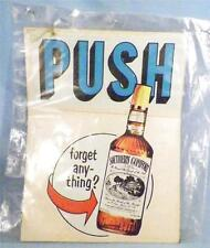 Vintage Southern Comfort Advertising Label Push Forget Anything?