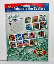 Celebrar el siglo década de 1990 Hoja de quince 33 Centavos Estampillas Postales ~ Sellado!!!