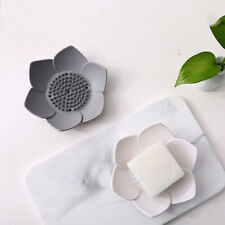 1PC Silicone Soap Dish Case Container Lotus Soap Box Plate Bathroom Accessories