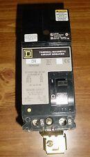 SQUARE D THERMAL MAGNETIC CIRCUIT BREAKER 15 AMP 2-POLE 480V, FA24015AB NIB