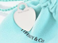 Tiffany & Co Blank Heart Tag Pendant Charm for Engraving Bracelet Necklace